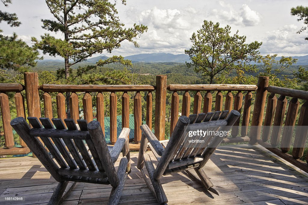 Rocking Chair Solitude with a Mountain View