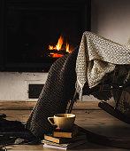 Winter holidays, interior and decor concept