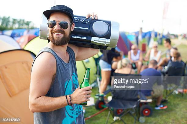 Rocking out with my boombox