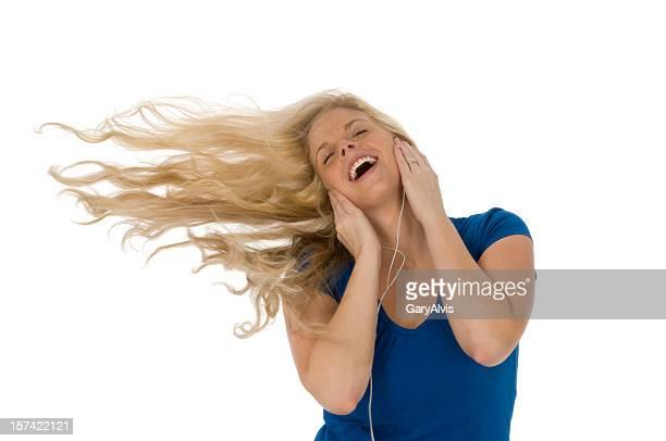 Balancearse fuera soplado de distancia de música