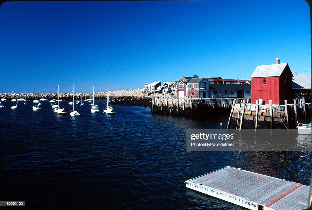 Rockport Harbor Cape Anne : Stock Photo