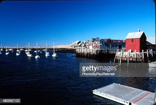 Rockport Harbor Cape Anne : Stock Photo