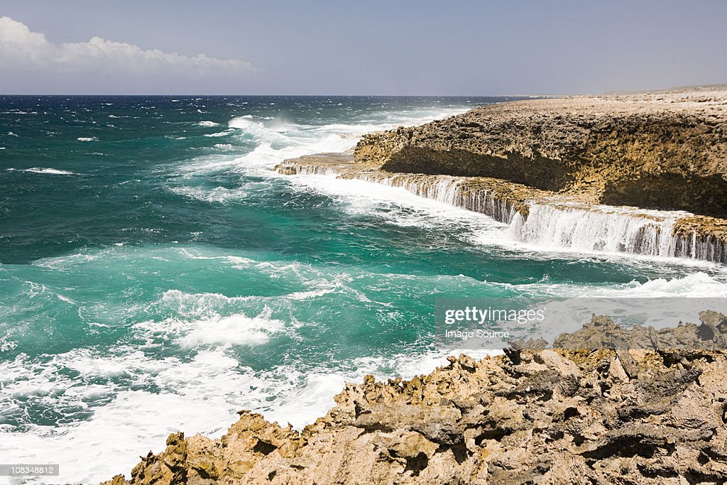 Rocks and sea, Curacao, Antilles