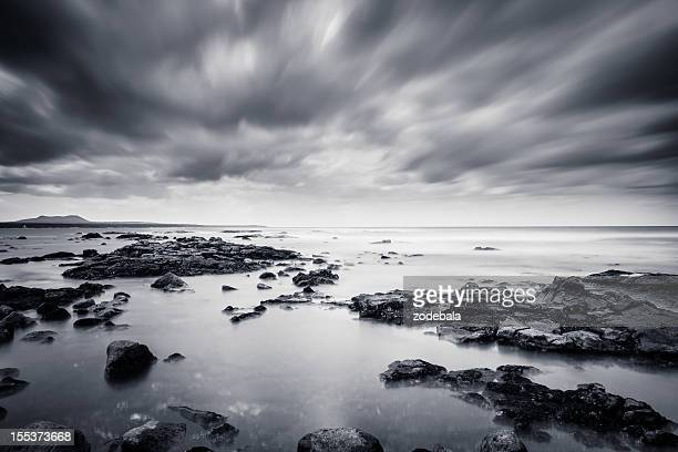 Rocks and Sea in Black & White, Canary Island