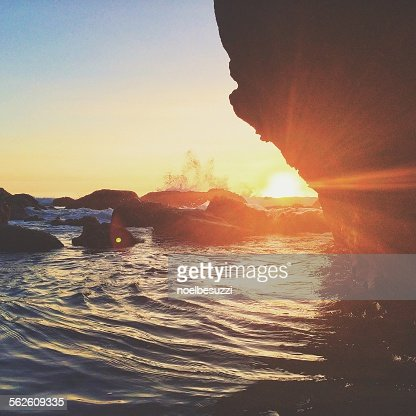 Rocks at the beach, Dana Point, California, USA