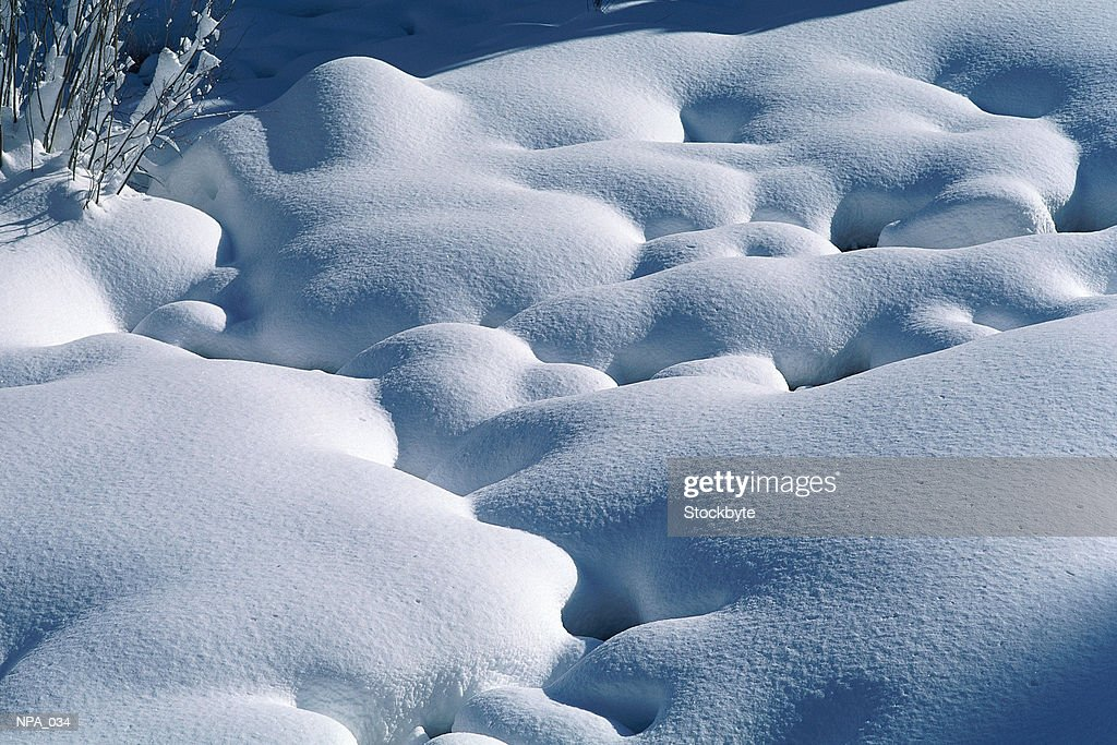 Rocks covered with snow : Stock Photo