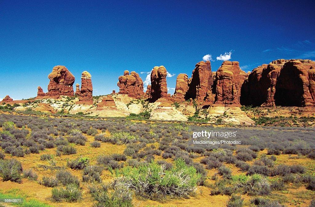 rocks formation at devilu0027s garden arches national park utah