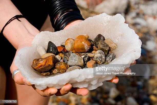 Rocks in a salt bowl