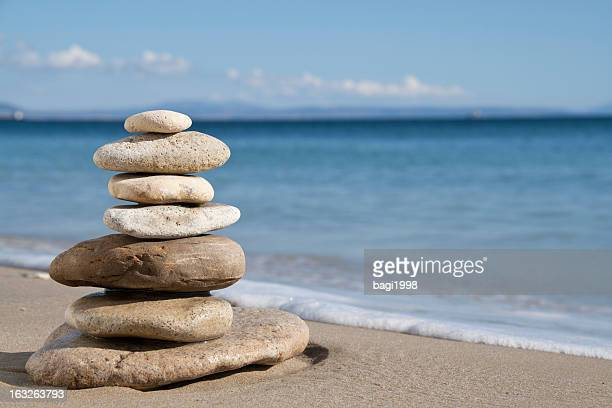 Rocks in multiple sizes balanced on top of each other