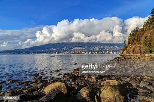 rocks on a beach in Stanley Park, Vancouver, Canada : Stock Photo