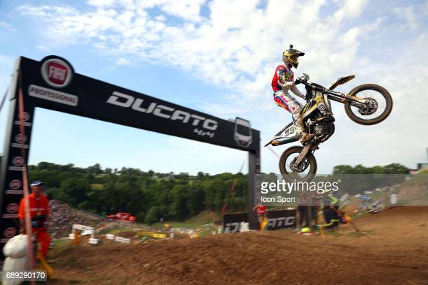 Rockstar Energy Husqvarna's rider Max Anstie of Great Britain during Day 1 of the Motocross MXGP and MX2 France Grand Prix of the FIM World Motocross...