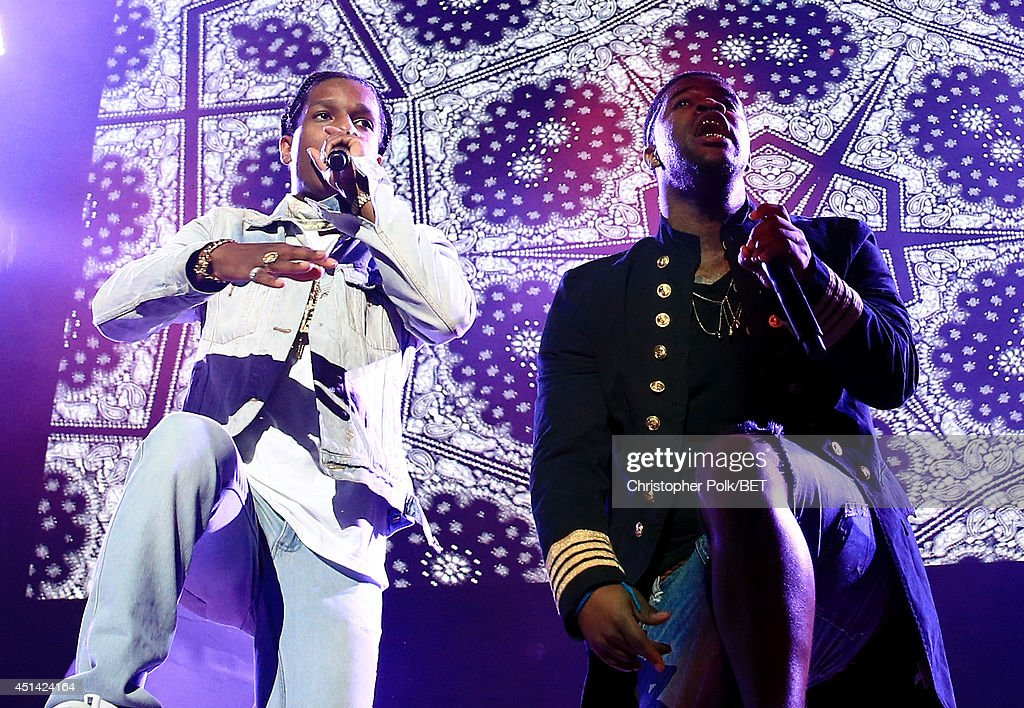 Rocky (L) and A$AP Ferg perform onstage at the OutKast, A$AP Rocky, Rick Ross, K. Michelle, August Alsina & Ty Dolla $ign Presented By Sprite during the 2014 BET Experience At L.A. LIVE on June 28, 2014 in Los Angeles, California.