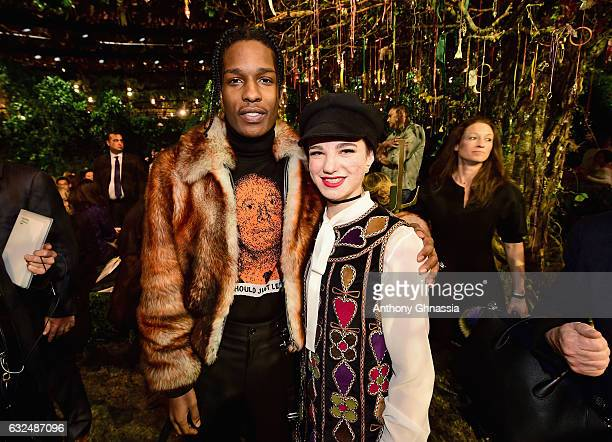 Rocky and Beatrice Vio attend the Christian Dior Haute Couture Spring Summer 2017 show as part of Paris Fashion Week at Musee Rodin on January 23...