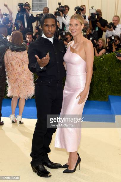 Rocky and Gwyneth Paltrow attends the 'Rei Kawakubo/Comme des Garcons Art Of The InBetween' Costume Institute Gala at Metropolitan Museum of Art on...