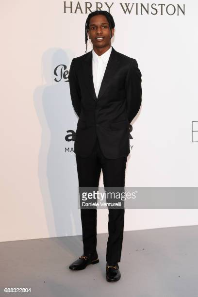 XASAP Rocky arrives at the amfAR Gala Cannes 2017 at Hotel du CapEdenRoc on May 25 2017 in Cap d'Antibes France