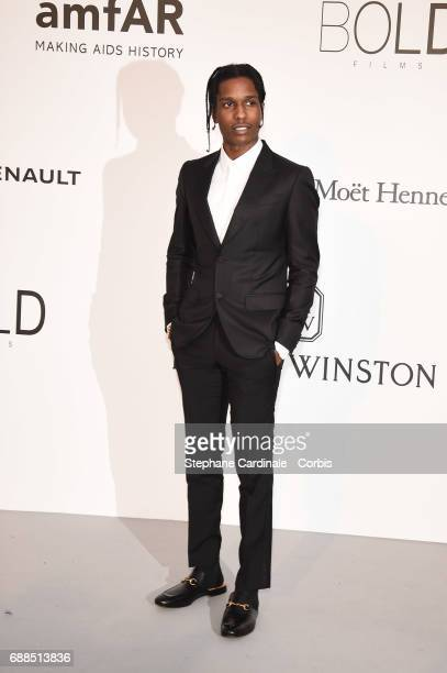 ASAP Rocky arrives at the amfAR Gala Cannes 2017 at Hotel du CapEdenRoc on May 25 2017 in Cap d'Antibes France