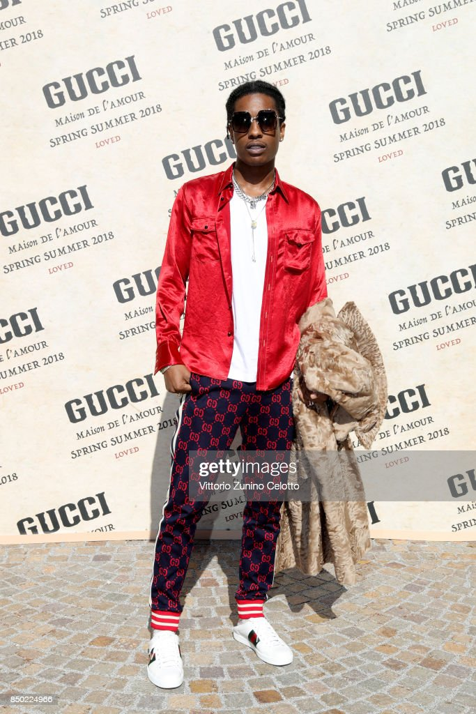 Rocky arrives at the Gucci show during Milan Fashion Week Spring/Summer 2018 on September 20, 2017 in Milan, Italy.