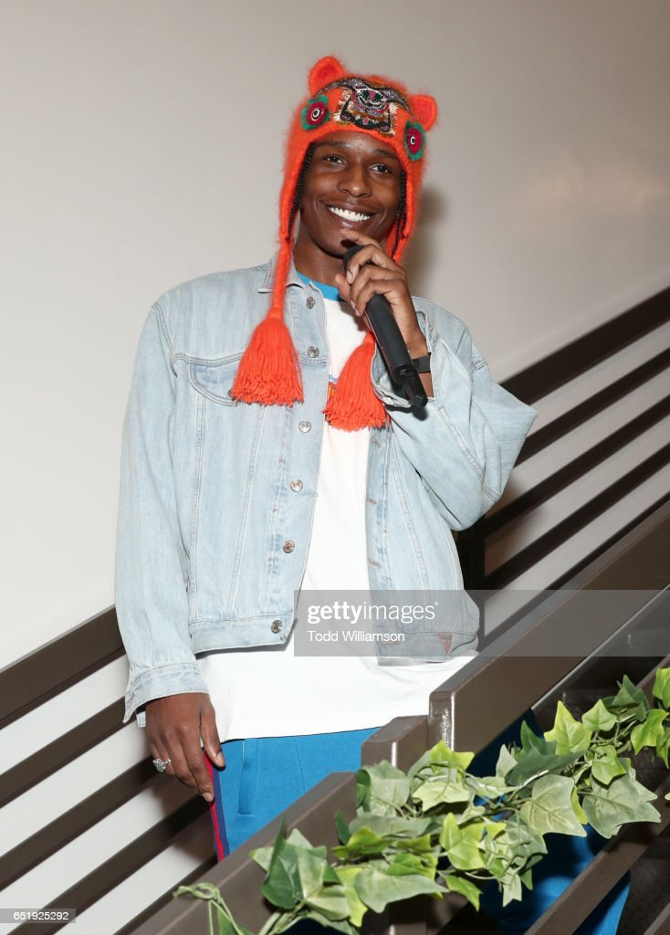 A$AP Rocky x GUESS Club on March 10, 2017 in West Hollywood, California.