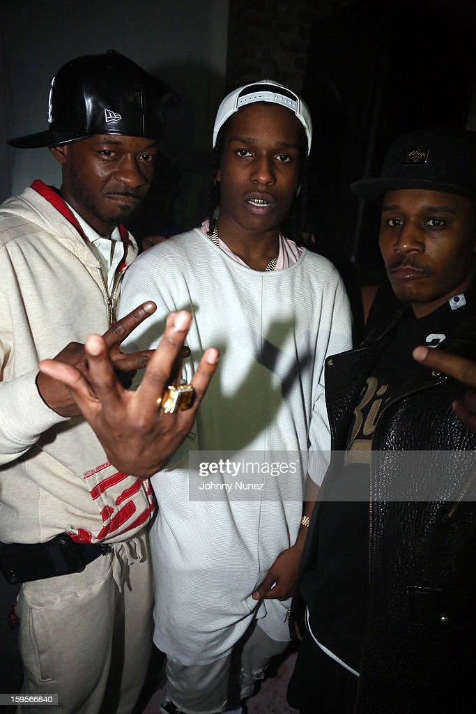Rocky (C) attends his 'LOVE.LIVE.A$AP' Album Release Party at The Hole on January 15, 2013 in New York City.