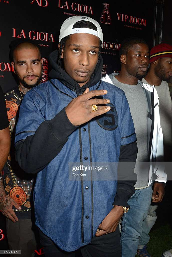 Rocky attends the ASAP Rocky Party at the VIP Room on August 21, 2013 in Saint Tropez, France.