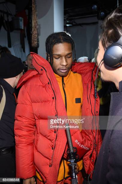 Rocky attends the Calvin Klein Collection Front Row during New York Fashion Week on February 10 2017 in New York City