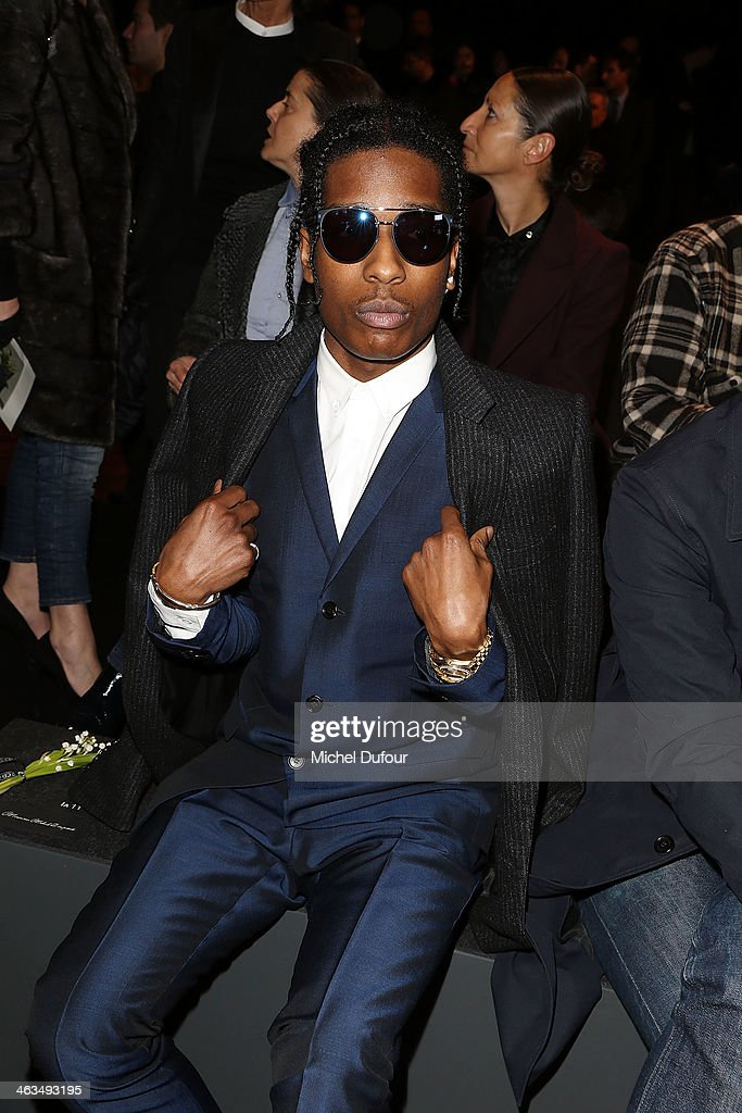 Rocky attends the Dior Homme Menswear Fall/Winter 2014-2015 show as part of Paris Fashion Week on January 18, 2014 in Paris, France.