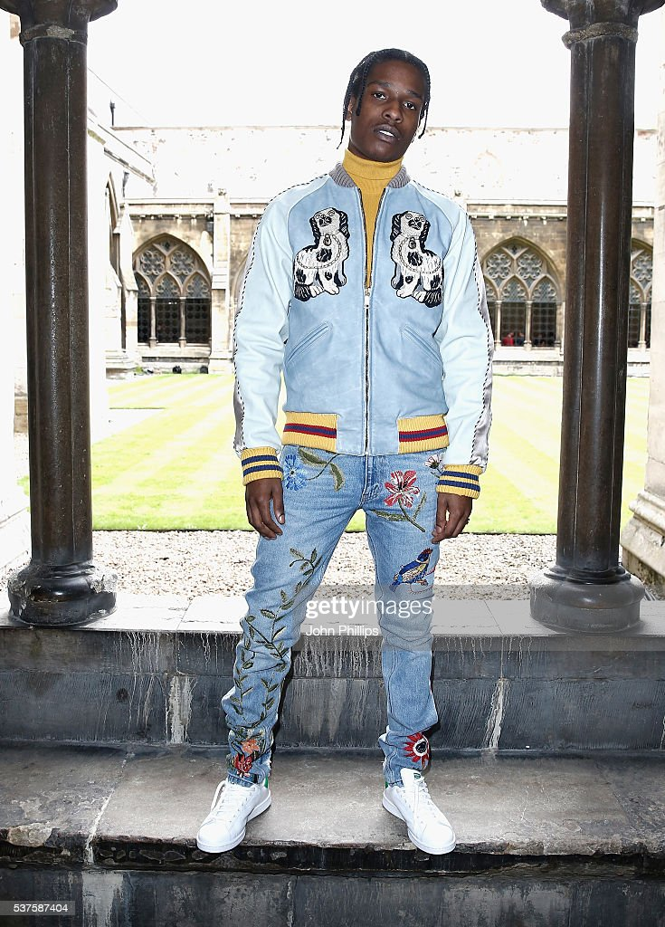 Rocky attends the Gucci Cruise 2017 fashion show at the Cloisters of Westminster Abbey on June 2, 2016 in London, England.