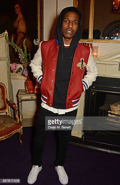 Rocky attends the Gucci party at 106 Piccadilly in celebration of the Gucci Cruise 2017 fashion show on June 2 2016 in London England