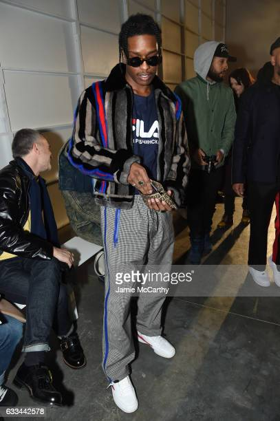 Rocky attends the Raf Simons fashion show during NYFW Men'son February 1 2017 in New York City