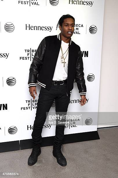 Tribeca Film Festival CRWN with Elliott Wilson and A$AP Rocky during the 2015 Tribeca Film Festival at Spring Studio on April 21 2015 in New York City