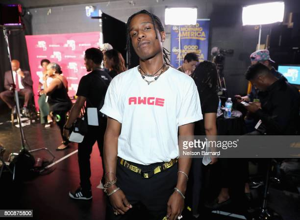 Rocky backstage at the 2017 BET Awards at Microsoft Theater on June 25 2017 in Los Angeles California