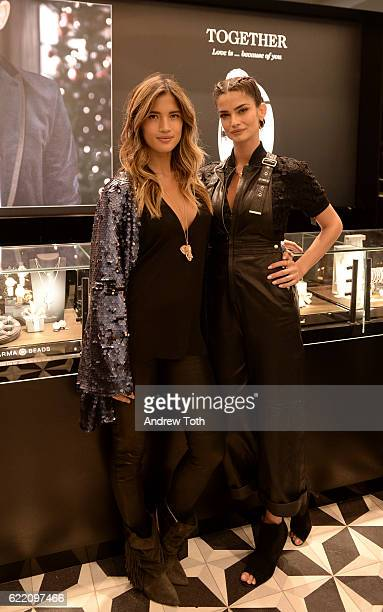 Rocky Barnes and Shermine Shahrivar attend the Thomas Sabo flagship boutique grand opening on November 9 2016 in New York City