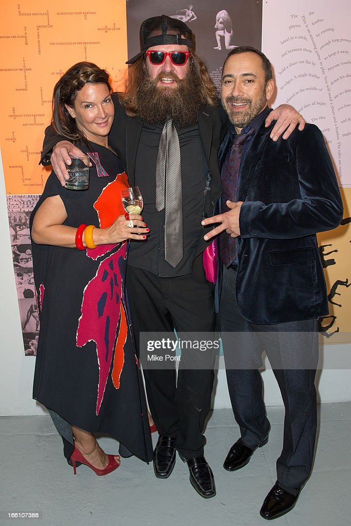 Rocky Barnette (C) and Carlos Martinez (R) attend Ballroom Marfa 10th Year Celebration at Center 548 on April 8, 2013 in New York City.