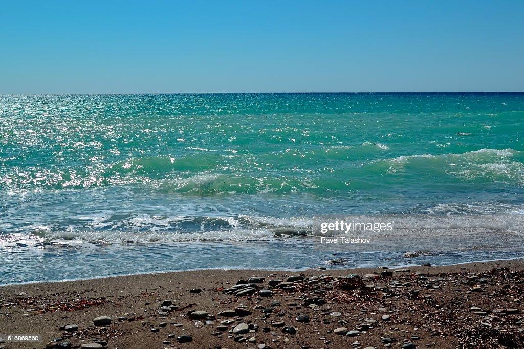 rocky beaches of Cyprus : Stock Photo