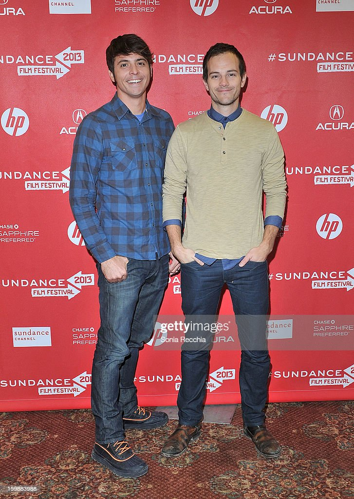 Rocky Braat and filmmaker Steve Hoover attend the 'Blood Brother' premiere at Yarrow Hotel Theater during the 2013 Sundance Film Festival on January 22, 2013 in Park City, Utah.