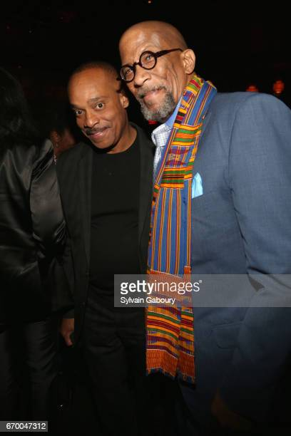Rocky Carroll and Reg E Cathey attend 'The Immortal Life Of Henrietta Lacks' New York Premiere After Party at TAO Downtown on April 18 2017 in New...