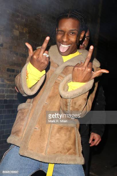 ASAP Rocky celebrating his birthday at the Chiltern Firehouse on October 2 2017 in London England