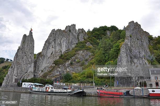 Rocky cliff along the Meuse