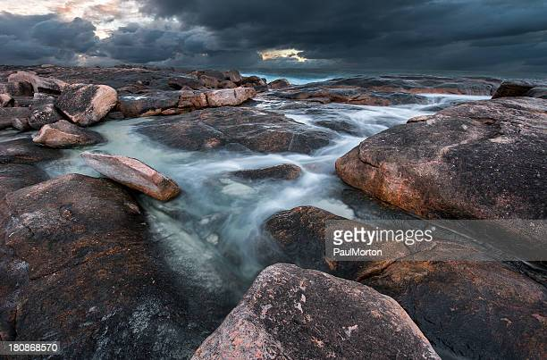 Rocky Coast during a Storm, Western Australia