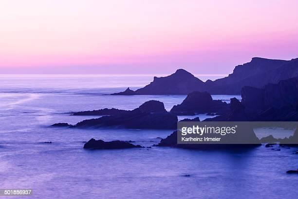 Rocky coast, Hartland Quay, Hardland, Devon, England, United Kingdom