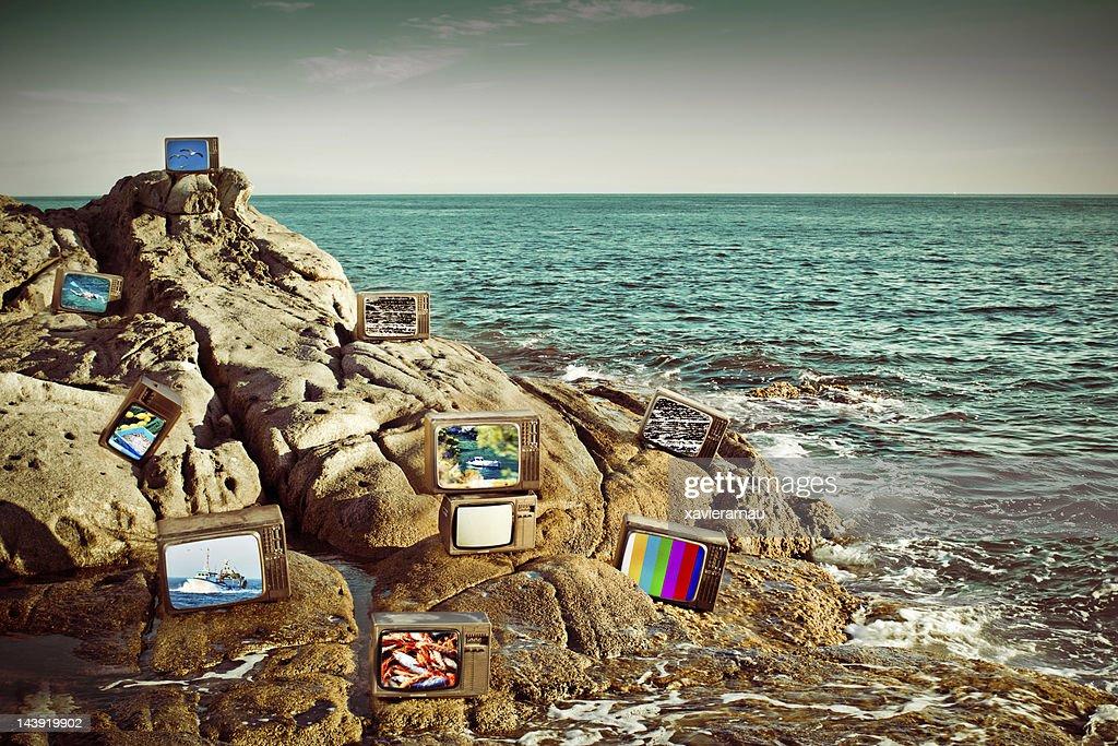 Rocky coast media : Stock Photo
