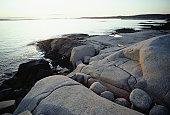 Rocky coastline, Peggy's Cove, Nova Scotia, Canada