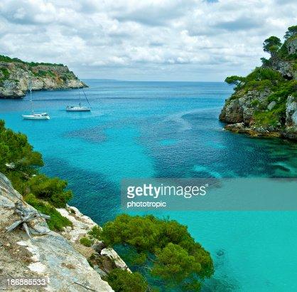 rocky cove in Minorca