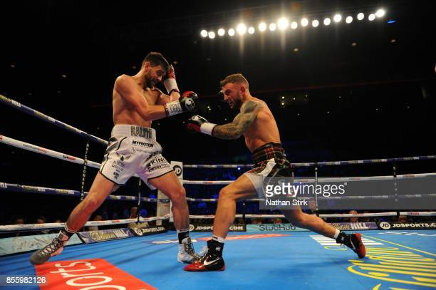Rocky Fielding and David Brophy in action during the Battle on the Mersey SuperSuperBritish and Commonwealth SuperMiddleweight Championships fight at...