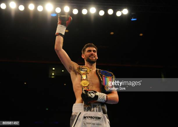 Rocky Fielding beats David Brophy during the Battle on the Mersey SuperSuperBritish and Commonwealth SuperMiddleweight Championships fight at Echo...