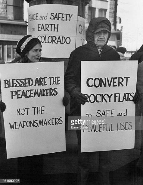 DEC 22 1974 DEC 23 1974 Rocky Flats Plant Object of Protest These demonstrators were among 24 persons gathered at United Nations Square 16th St and...