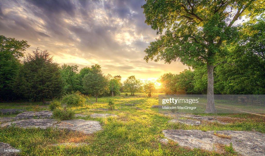 Rocky landscape sunset