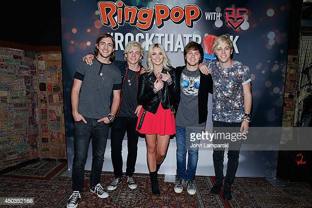 Rocky Lynch Ross Lynch Rydel Lynch Ellington Ratliff and Riker Lynch attend R5's #RockThatRockMusic Music Video Premiere at the Gramercy Theatre on...