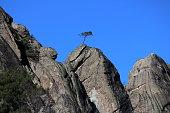 Rocky mountain and blue sky