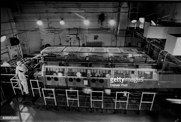 S Rocky Mountain Arsenal Arsenal Prepares to Destroy 21700 Obsolete Chemical Agent Kits An overall view of the disassembly room in the Rocky Mountain...